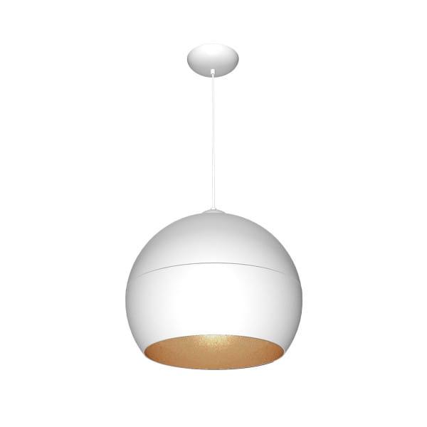 Pendelleuchte Weiß/Gold LEA WHITE 60W E27 1-flammig