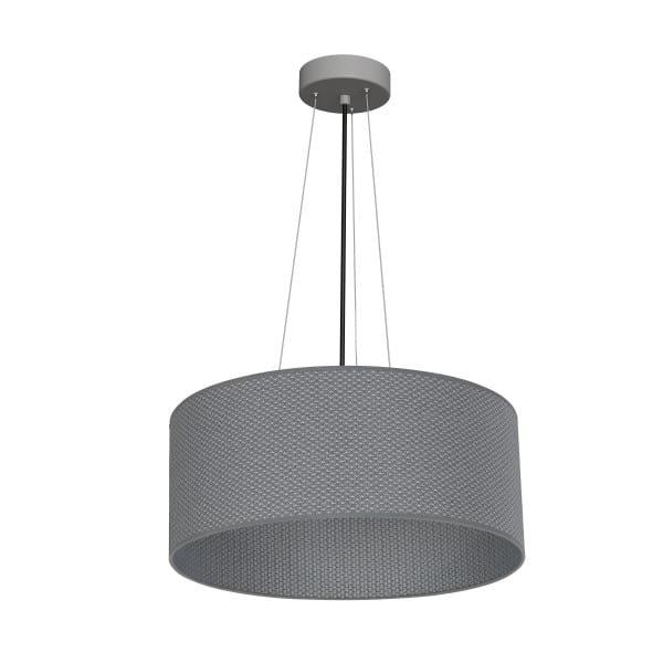 Pendelleuchte BELVEDERE grau aus Metall/Stoff 70cm