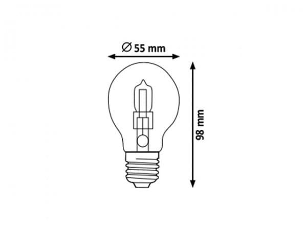 Halogen Leuchtmittel E27 28W 2800K warmweiß Dimmbar