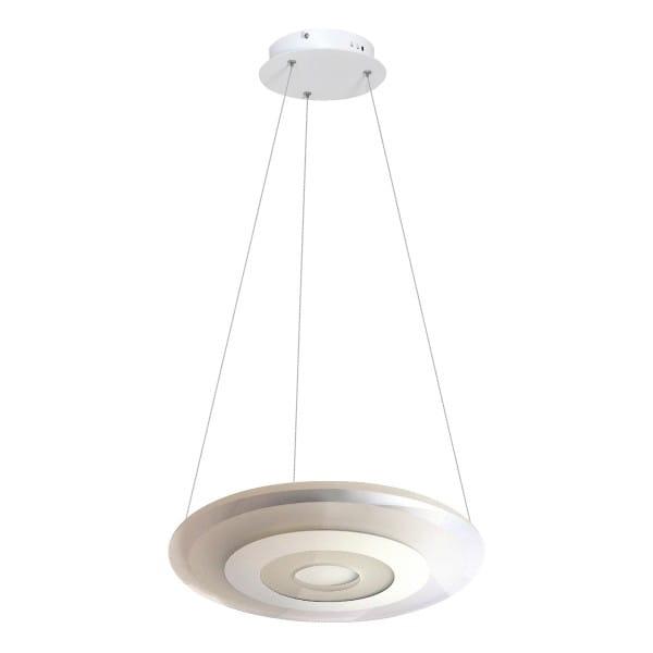 LED Pendelleuchte VOLTA Weiß/Schwarz 36W 2880lm