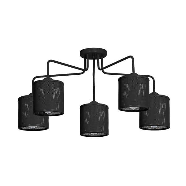 Deckenleuchte Schwarz LOUISE BLACK 60W E27 5-flammig
