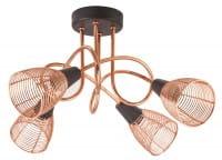 Veronica Deckenleuchte Industriedesign Metall schwarz/kupfer Deckenlampe E14 40W