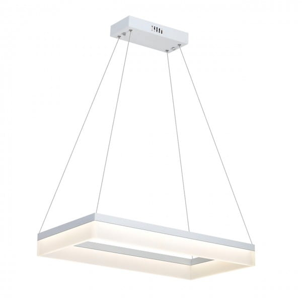 LED Pendleuchte CUBO weiß aus Metall/Acryl 1-flammig