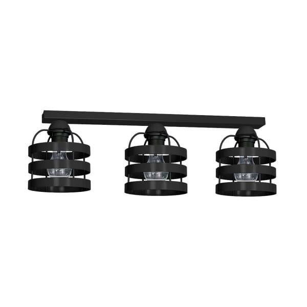 Deckenleuchte Schwarz LARS BLACK 60W E27 3-flammig