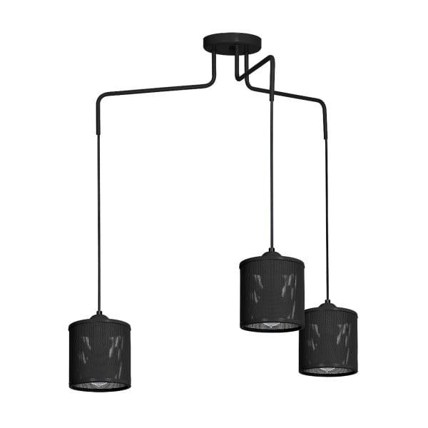 Pendelleuchte LOUISE BLACK schwarz aus Metall 84cm