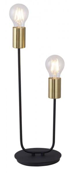 Tischlampe gold schwarz Metall Lanny