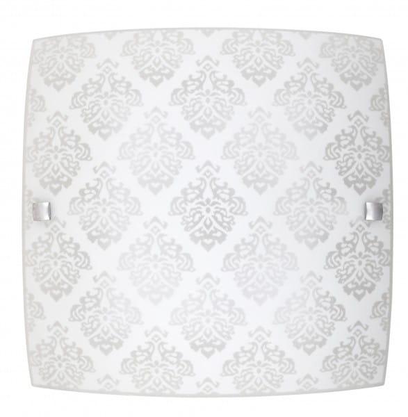 LED Deckenleuchte weiß 18W Fleur Metall/Glas 3000K warmweiß 1440lm