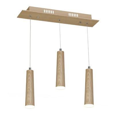 LED Pendelleuchte Holz 3flammig