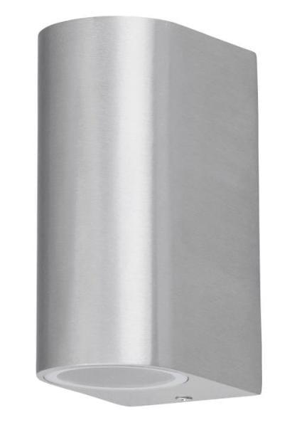 Außenwandleuchte aufwärts und abwärts gebürstetes Aluminium GU10 IP44 Chile