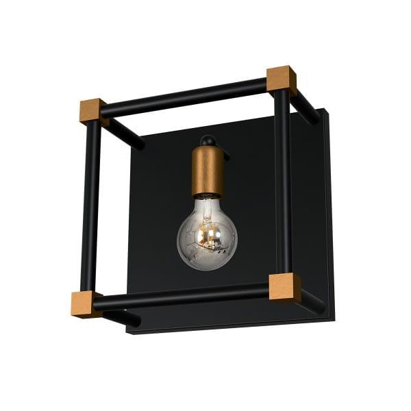 Wandleuchte Schwarz GRAND PATIN 60W E27 1-flammig