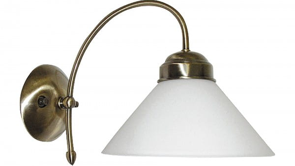 Marian Wandleuchte Classic Style Metall Glas