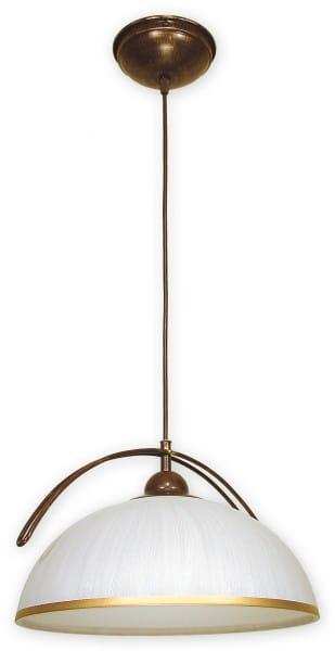 Pendelleuchte Glas braun/Goldpatina 1 flammig E27 Flex