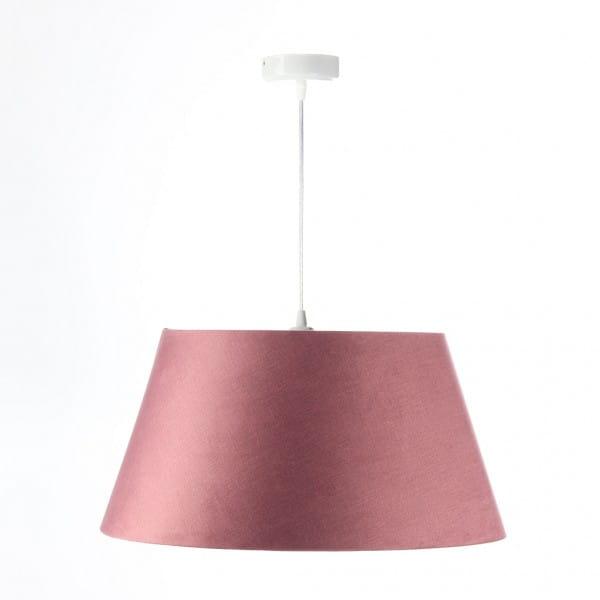 Pendelleuchte Luisa M in rosa/silber