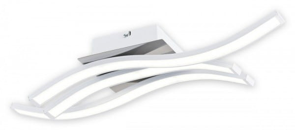 LED Deckenleuchte weiß/chrom 20,2W 3 flammig