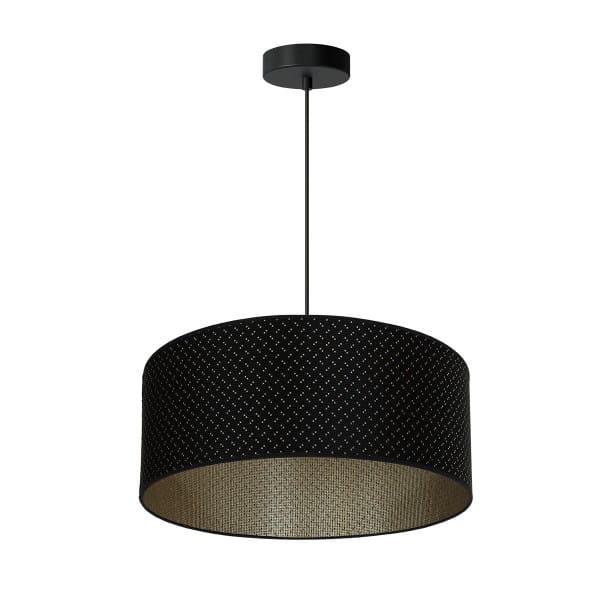Pendelleuchte AURORA schwarz aus Metall/Stoff 50cm