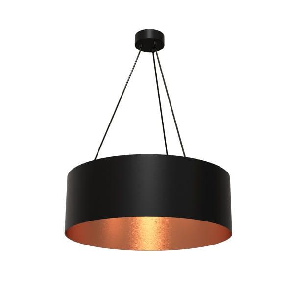 Pendelleuchte ROBIN schwarz/rosé gold aus Metall/Harz 70cm