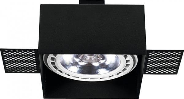 Einbaustrahler GU10/ES111 schwarz 75W 1 flammig Mod Plus