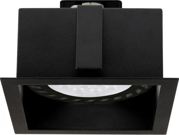 Einbaustrahler GU10/ES111 schwarz 75W 1 flammig Mod