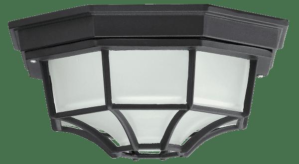 Außendeckenleuchte schwarz E27 100 Watt IP43 Milano