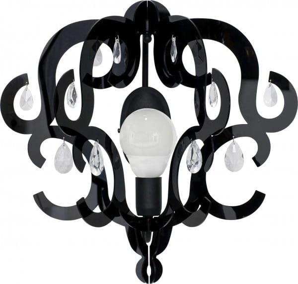 KATERINA Wandleuchte modern Metall/Kunststoff schwarz Wandlampe E27 60W