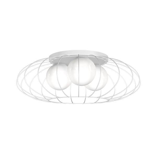 Deckenleuchte KRONOS WHITE weiß aus Metall/Glas rund