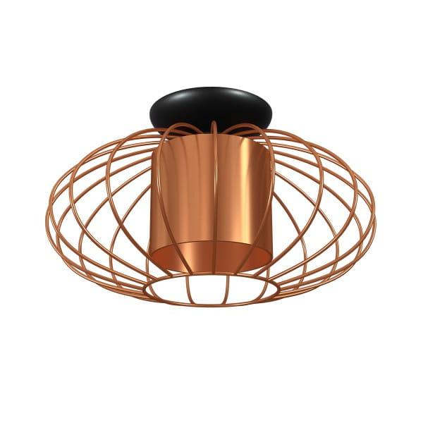 Deckenleuchte Kupfer/Schwarz COBRE 60W E27 1-flammig