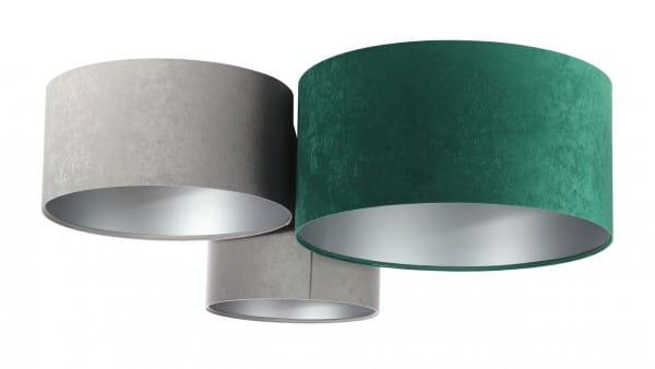 Deckenleuchte Astrid in grau/grün/silber