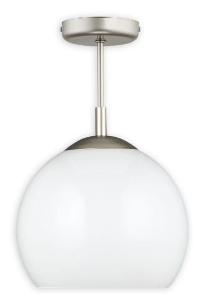 Pendelleuchte Kula weiß aus Stahl/Glas satin offen