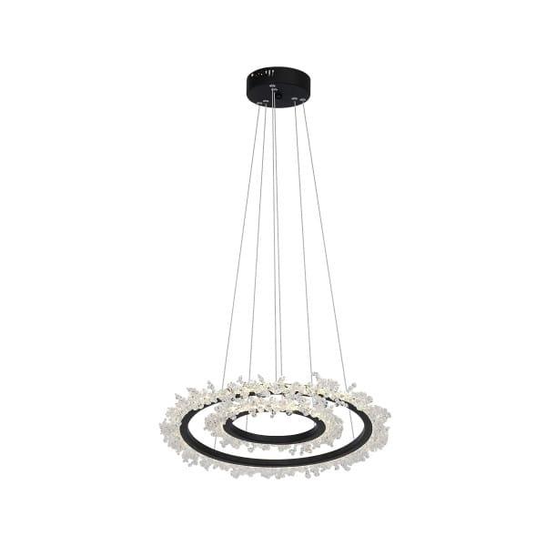 LED Pendelleuchte FROZEN Schwarz 60W 3600lm