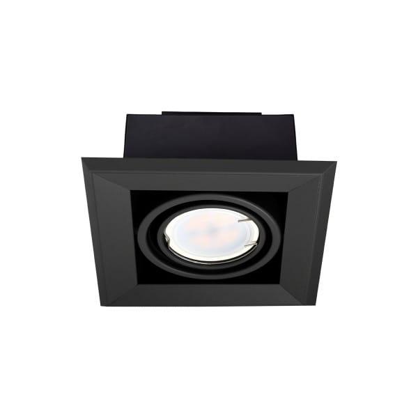 LED Einbauleuchte BLOCCO schwarz aus Metall 1-flammig 120mm