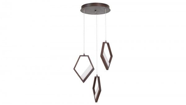 LED Pendelleuchte metallbraun LED-Board 45W