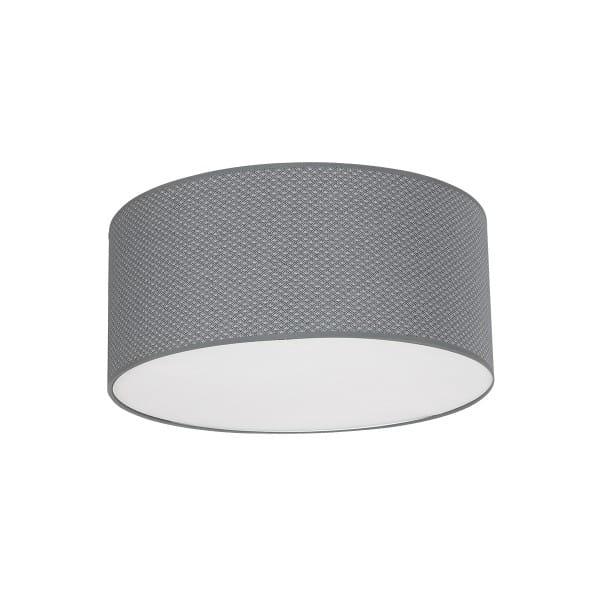 Deckenleuchte BELVEDERE grau aus Metall/Stoff 50cm