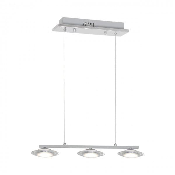 LED Pendleuchte ELLIPSE chrom aus Metall 5-flammig am Balken