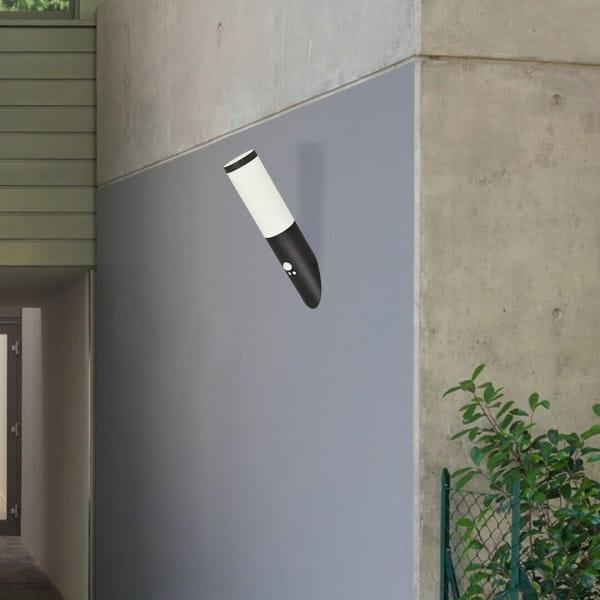 Außenwandleuchte weiß/mattschwarz E27 IP44 Sensor Black torch