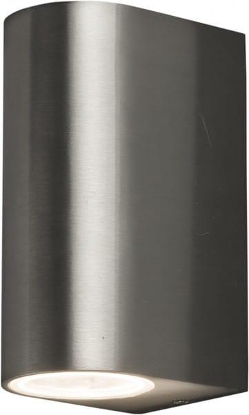 ARRIS Außenwandleuchte modern Edelstahl/Glas edelstahl Außenlampe Wandlampe GU10 35W