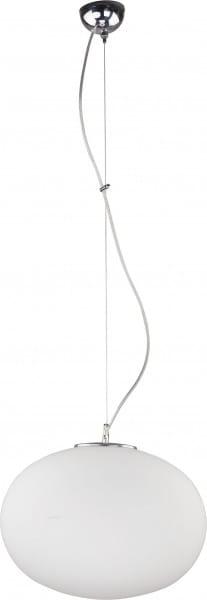 Pendelleuchte aus Glas weiß 1 flammig E27 NUAGE L