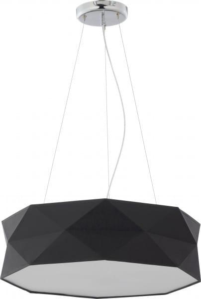 Pendelleuchte Stoff Schwarz 52 cm