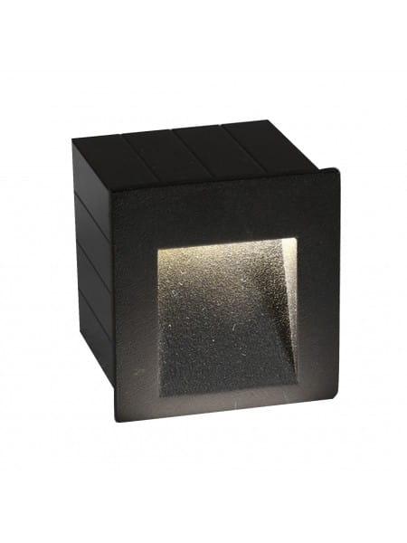 STEP Außeneinbauleuchte modern Aluminium anthrazit Einbaustrahler Außenlampe LED-Board 3W
