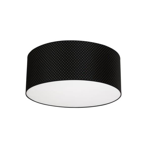 Deckenleuchte AURORA schwarz aus Metall/Stoff 50cm