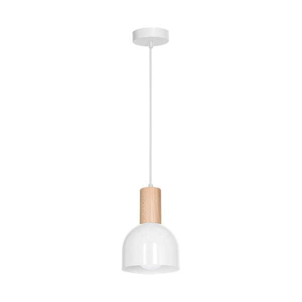Pendelleuchte natürliches Holz/Weiß DEX WHITE 60W E27 1-flammig