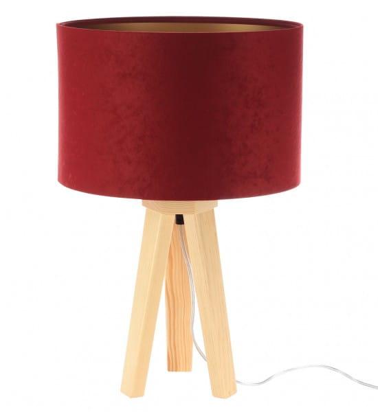 Tischleuchte Paula in rot/gold