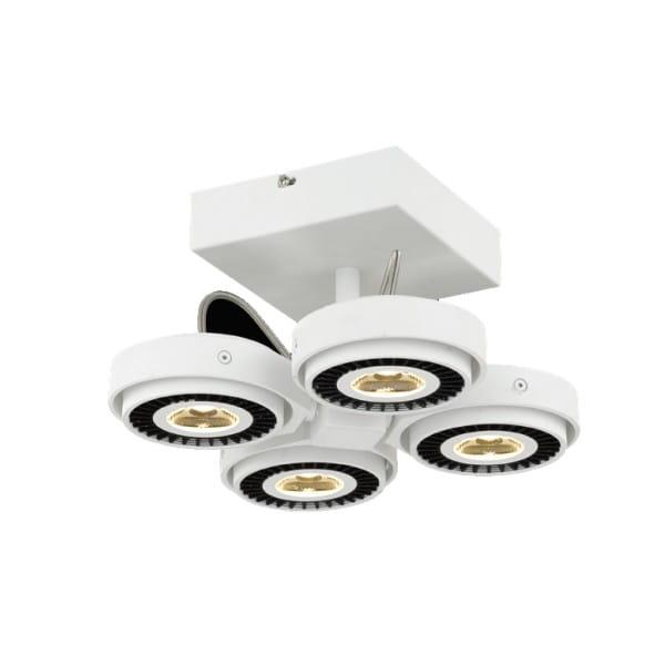 LED Deckenleuchte TECHNO Weiß/Schwarz 40W LED 2800lm