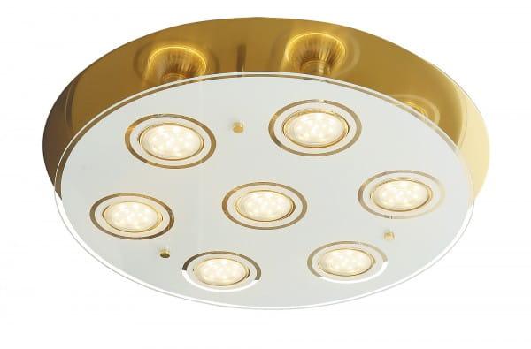 LED Deckenleuchte 5W 7 flammig bronze rund warmweiß
