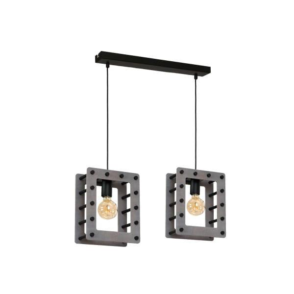 Pendelleuchte Grau/Schwarz THEO 60W E27 2-flammig