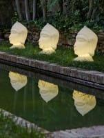 Buddha LED Dekoleuchte Garten 40 cm