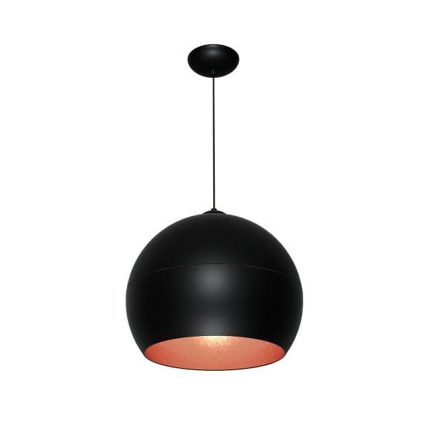 Pendelleuchte Schwarz/rosé gold LEA BLACK 60W E27 1-flammig
