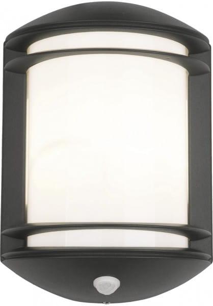 QUARTZ Außenwandleuchte modern Aluminium/PC anthrazit Außenlampe Wandlampe E27 60W