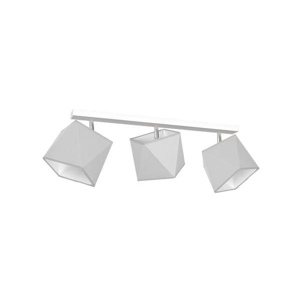 Deckeneuchte FRANK grau/weiß aus Metall/Stoff am Balken