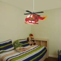 Kinderzimmerlampe Rot 36 cm Helicopter