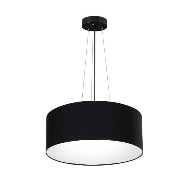 Pendelleuchte BARI BLACK schwarz aus Metall/Stoff 70cm